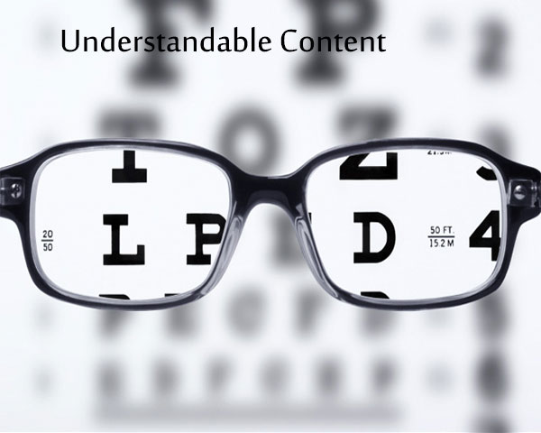 Understandable Content Accessible websites